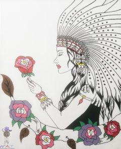 peinture femme chamane
